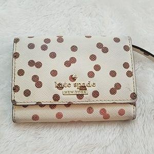 Kate Spade Polka Dot  leather wallet